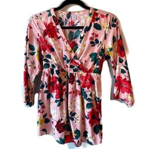 Old Navy Maternity Wrap-Front Floral Sateen Top